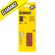 DeWalt 93 x 190mm 60 Grit 1/3 Sanding Sheets Pack of 10