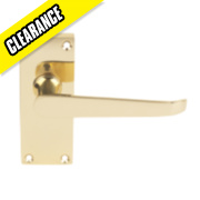 Victorian Straight Door Handle Pack Brass Effect