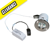 Robus Fixed Round Low Voltage Fire Rated Downlight Brushed Chrome 12V
