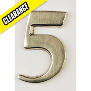 Door Numeral No. 5 Brass