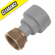 PolyPlumb Straight Tap Connector 22mm x ¾