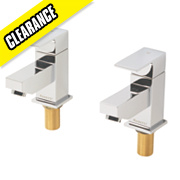 Moretti Quadrata Bath Taps Pair