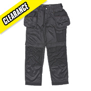 "Snickers 3212 DuraTwill Trousers Black 41"" W 32"" L"