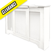 Victorian Adjustable Radiator Cabinet White 970-1420 x 235 x 936mm