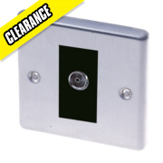 LAP 1-Gang TV Coaxial Socket Stainless Steel