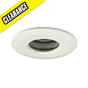 JCC Lighting Fixed Round Low Volt FR Recessed Shower Downlight White 12V