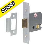 Eclipse Mortice Flat Latch Satin Chrome 63mm