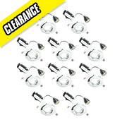 LAP Fixed Mains Voltage Downlight Contractor Pack Polished Chrome 240V Pk10