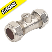Isolating Valves Chrome Plated 15mm Pack of 10