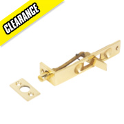 Flush Door Bolt Polished Brass 100mm