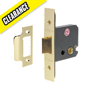 Eclipse Mortice Flat Latch Polished Brass 63mm
