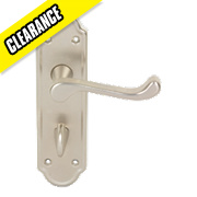 Urfic Ashworth WC Door Handle Pair Satin Nickel