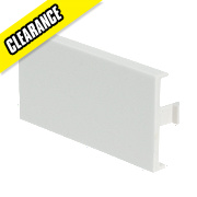 Modular White 1/2 Blank Plate Pack of 10