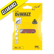 DeWalt 93 x 93mm 80 Grit Detail Sander Sheet Pack of 10