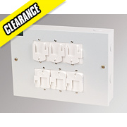 Crabtree 4-Pin 6-Way Luminaire Distribution Box