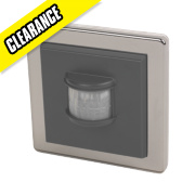 LightwaveRF Wall-Mounted Wireless PIR Black Nickel