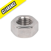 A4 Stainless Steel Hex Nuts M20 50 Pack