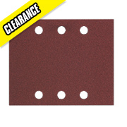 Bosch Orbital Sanding Sheets Top Clamped 115 x 140mm 40 Grit Pack of 10