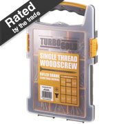 TurboGold Woodscrews Trade Grab Pack Double Self-Countersunk Pack of 1000