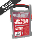 Quicksilver Woodscrews Trade Case Grab Pack Zinc-Plated 1000 Pieces