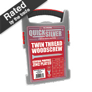 Quicksilver Woodscrews Trade Case Grab Pack Double Countersunk Pack of 1000