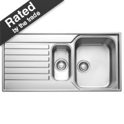 Franke Square Inset Sink S/Steel 1½ Bowl & Reversible Drainer 1000 x 510mm