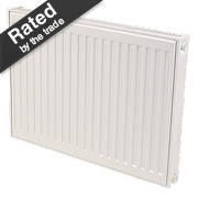 Kudox Premium Type 11 Single Panel Single Convector Radiator White 600x600