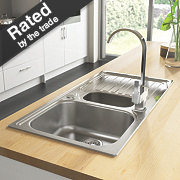 Astracast Alto Kitchen Sink S/Steel 1½ Bowl Reversible Drainer 980 x 183mm