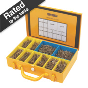 TurboGold Woodscrews General Trade Case Double Self-Countersunk Pack of 1400