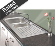 Franke 1½ Bowl Kitchen Sink with Tap & Drainer Stainless Steel 965 x 500mm