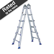 Aluminium Telescopic Ladder 2-Section 2 x 7 Treads 4.43m