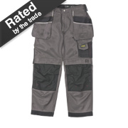 Snickers 3212 DuraTwill Trousers Grey/Black 38