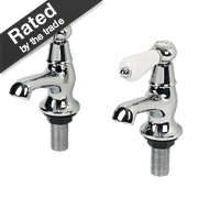 Swirl Period Bathroom Basin Lever Taps Pair Chrome