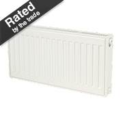 Kudox Premium Type 11 Single Panel Single Convector Radiator White 300x600