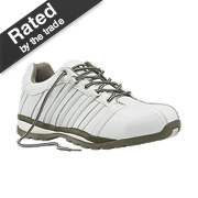 Worksite Industrial Wear Safety Trainers White Size 9