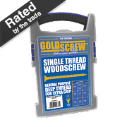 Goldscrew Woodscrews Trade Case Grab Pack Double Countersunk Pack of 1000