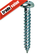 Quicksilver Zinc-Plated Woodscrews Double Countersunk 8 x 1½mm Pack of 200