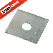 Sabrefix M12 Square Plate Washers Galvanised DX275 50 x 50mm Pk50