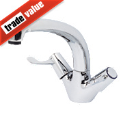 H and C Commercial Lever Mono Mixer Kitchen Sink Tap Chrome