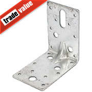 Heavy Duty Angle Brackets Galvanised 90 x 90mm Pk25