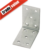 Heavy Duty Angle Brackets Galvanised 40 x 60mm Pk25