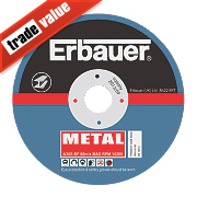Erbauer Metal Cutting Discs 115 x 1 x 22.23mm Bore Pack of 5