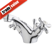 Swirl Traditional Bathroom Basin Mono Mixer Tap Chrome