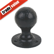 Jedo Victorian Rim Door Knob Pair Black 46mm