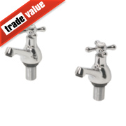 Swirl Traditional Bath Taps Pair Chrome