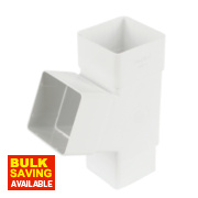 Square Line 112.5° Pipe Branch White