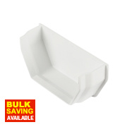 Square Line Internal Stop End 112mm White