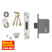 Smith & Locke Easi-T BS 5-Lever Mortice Deadlock Satin SS 2 ½