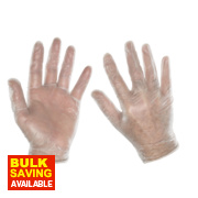 Clean Grip 100% Vinyl Disposable Gloves Clear Large Pk100