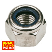 Nylon Lock Nuts A2 Stainless Steel M10 100 Pack